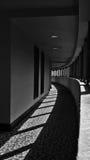 弯曲的走廊 免版税图库摄影