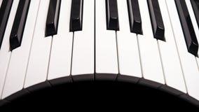 弯曲的钢琴钥匙 免版税库存图片