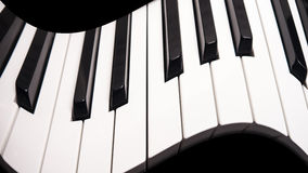 弯曲的钢琴 图库摄影