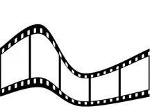 弯曲的filmstrip 皇族释放例证