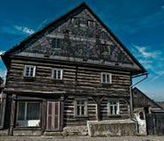 弯曲的wooding的村庄 库存照片