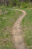 弯曲路径走 库存照片