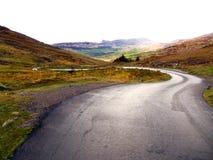 弯曲道路在爱尔兰 免版税图库摄影