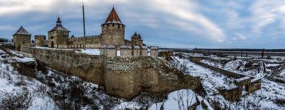 弯机堡垒在德涅斯特河沿岸共和国Pridnestrovie 库存照片