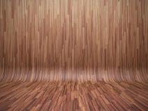 弯的木条地板 向量例证
