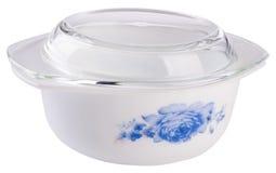 弯脚的 烹调在白色的陶瓷碗 图库摄影