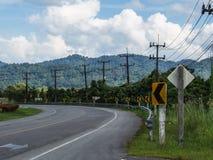 弯路在乡下 库存图片