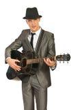 弹吉他的吉他弹奏者 库存图片