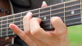 弹吉他在公园 库存图片