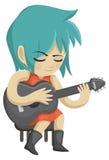 弹吉他 库存例证