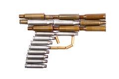 弹壳手枪 免版税库存图片