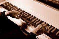 弹大键琴者 免版税库存图片