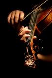 弹小提琴的音乐家 免版税库存图片