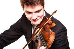 弹小提琴的人小提琴手。古典音乐艺术 库存照片