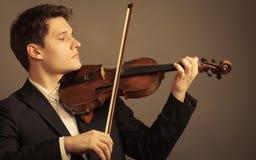 弹小提琴的人小提琴手 古典音乐艺术 图库摄影