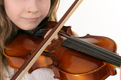 弹小提琴的小提琴手 库存照片