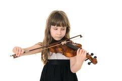 弹小提琴的小提琴手 图库摄影