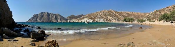 弹药海滩希腊patmos psili 免版税图库摄影