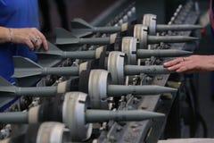 弹药的生产的工厂 免版税库存照片