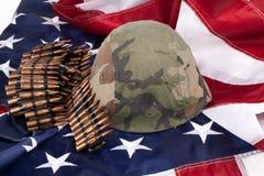弹药筒和盔甲 免版税库存图片