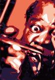 弹萨克斯管的音乐家 库存图片