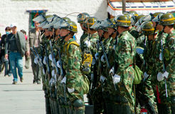 强制西藏 免版税库存照片