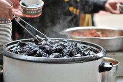 强嗅到的被保存的豆腐/发酵了与气味/豆腐的豆腐与气味 库存照片