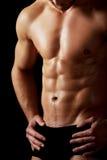 强壮男子的人肌肉性感 免版税库存照片