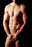 强壮男子的人肌肉性感 免版税库存图片