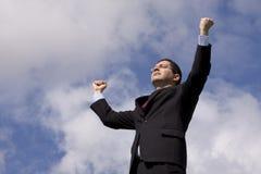 强大的生意人 免版税库存图片