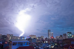 强大的闪电 图库摄影