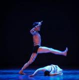 强奸差事的定义到迷宫现代舞蹈舞蹈动作设计者玛莎・葛兰姆里 免版税图库摄影