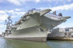 强悍的USS,纽约 库存照片