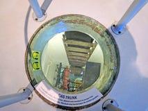 强悍的USS :紧急出口 免版税库存照片