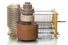 强有力的三极管、感应器和电容器 图库摄影