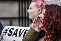 强有力的妇女 免版税库存照片