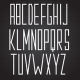 强有力的字体高,狭窄的正方形 库存例证
