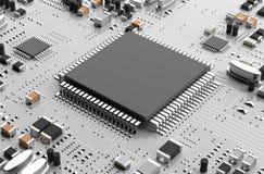 强有力的微处理器 库存图片