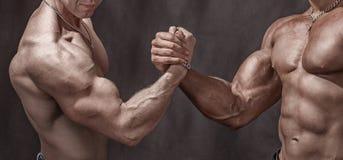 强有力的握手 库存照片