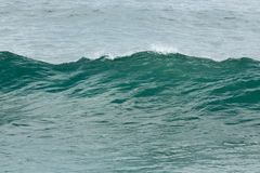 波浪在海洋 免版税库存照片