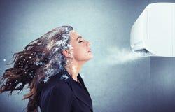 强有力的空调器 免版税库存图片