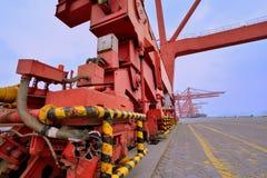 强有力的船坞设备,厦门,福建,中国 库存图片