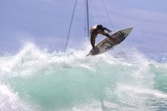 强烈的海浪 免版税库存照片