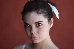 强烈的青少年的女孩 库存照片