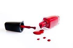 强烈的颜色指甲油  免版税库存图片