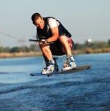 强烈wakeboarding 免版税库存照片