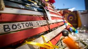 强的波士顿-波士顿马拉松纪念品 免版税库存照片