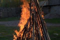 强的火火焰 库存图片