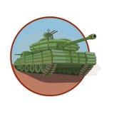 强的装甲保护坦克 库存例证