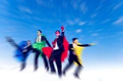 强的超级英雄企业志向信心成功概念 库存图片